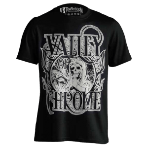 Valley of Chrome Black and White Skull